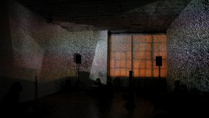 Drums and Drones with visuals by Ursula Scherrer (at Studio 10, Bushwick, Brooklyn)