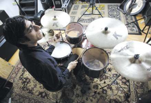 Brian for Modern Drummer, at the former Stay Gold studio